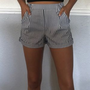 Bershka blue and white shorts
